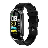 帶心率監測器的智能手表 IP67 防水健身追蹤器 帶**監測器 活動追蹤腕帶兒童、女士