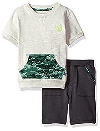 Cherokee 男童幼儿运动时尚 T 恤短裤套装