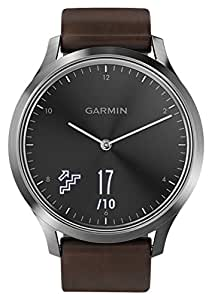 GARMIN 佳明 vivomove HR 经典版 典雅黑大码 指针式光电心率健康监测智能运动时尚男女情侣手表