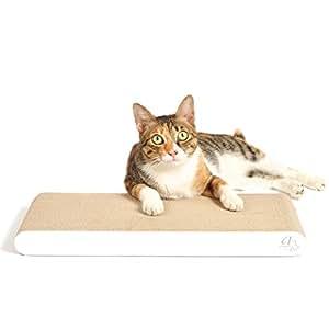 4claws 显示器 scratching PAD ( 白色 )–BASICS 系列猫 scratcher 白色 1 Unit