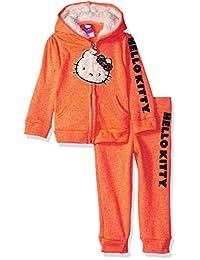 Hello Kitty 女童连帽羊毛运动套装 2 件套