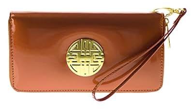 Canal Collection 甜美液体亮光 PVC 腕带徽章钱包 橙色 单一尺寸