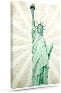 """Kess InHouse 凯瑟琳·麦克唐尔德""""女士""""自由雕像户外帆布墙艺术 24"""" x 30"""" CM1027AAC05"""