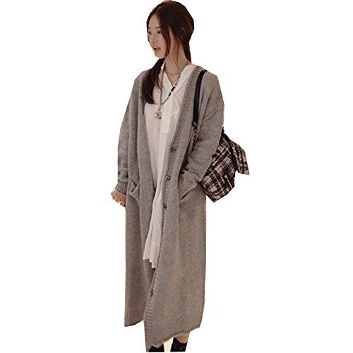 春と秋の韓国語バージョンの長いセクション厚い大きいサイズの緩いセーターの女性の慈カラーCIYANマタニティドレス