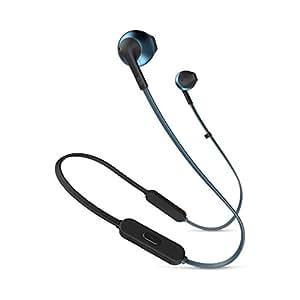 JBL TUNE205BT Bluetooth蓝牙耳机 麦克风遥控器/开放式 蓝色 JBLT205BTBLU