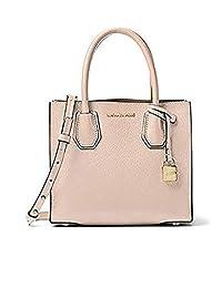 Michael Kors 迈克·科尔斯 MERCER 女式 中号皮质手提包 30S8TM9M2L-soft pink 浅粉 21.6CM*10.2CM*19CM