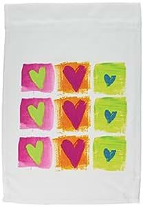 florene 装饰–所有 Hearts–旗帜 12 x 18 inch Garden Flag