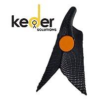Keder Solutions Double Flap Black Keder - 非常适合帐篷、遮阳篷、横幅、标牌、船、房车等 7.5 mm 10 yards
