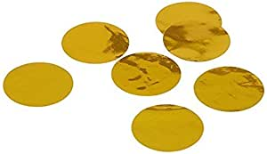 ALLYDREW 圆形纸纸纸 2.54 cm 圆形五彩纸屑 Metallic Gold Mylar unknown