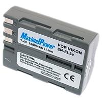 maximalpower 尼康EN-EL3E 相机摄像机锂电池 1100mAh 适用于尼康 D90 D80 D700 D200 D300 D300S 3年质保