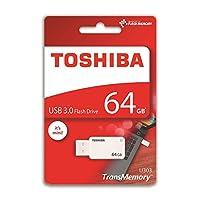 """东芝 16 GB """"TransMemory"""" U303 USB 3.0 闪存盘 - 白色THN-U303W0640E4 64GB"""
