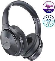 Mpow 主動降噪耳機,頭戴式藍牙耳機 H17 快速充電,ANC 耳機帶軟質真蛋白質耳墊,高保真立體聲聲音,30 小時播放電視/旅行