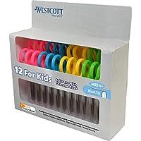 Westcott 5 英寸儿童剪刀,带*保护,金色,混色。 1-包每包 1 条