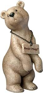 Fountasia 90407 Brooksie 4-1/2 英寸高熊雕像带熊窝标志,浅棕色