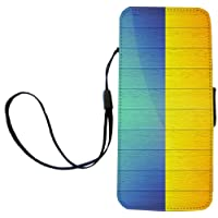 Rikki Knight Ukraine Flag on Distressed Wood Flip Wallet iPhoneCase with Magnetic Flap for iPhone 5/5s - Ukraine Wood Flag