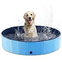 AHK 可折叠狗宠物泳池便携式儿童泳池,PVC 浴缸,大型小型犬户外游泳池