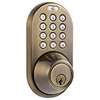 MiLocks 电子无钥匙入门触摸板挂锁 古铜色 DF-02AQ