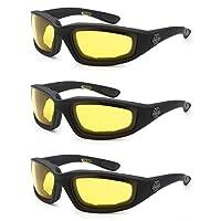 3 件装 OWL Pouch Choppers 适用于户外活动运动摩托车骑行护目镜