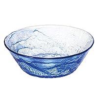 Toyo sasaki 東洋佐佐木玻璃 流蒼 日本制造 可應對洗碗機 玻璃碗 藍色 約φ24.3×8.2cm P-43311-F/B-JAN