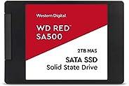 WD 西部数据 红色 SA500 NAS 2TB 3D N 内部固态硬盘 - SATA III 6 GB/S,2.5\/7mm,*大 560 MB/S - WDS200T1R0A