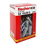 Fischer 542451 左侧螺丝钉,灰色,10 x 50 毫米,一套 25 件