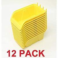 WallPeg 钉板收纳盒套件 - 钉板零件收纳工具木栓板工作台收纳配件一包大号 (12)