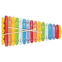 木马智慧 15音阶纯木敲击乐器玩具 卡通琴  12653