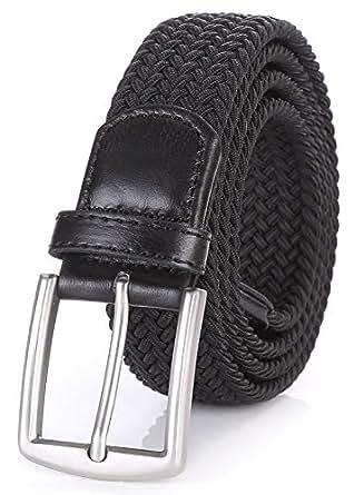 weifert 男式弹力针织5.08cm 宽弹性编织腰带