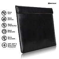 Silent Pocket Faraday Bag 笔记本电脑包 - 皮革或防水尼龙 - 信号阻隔设备屏蔽,适用于所有 MacBook、表面、大多数笔记本电脑旅行、隐私、防黑 - 多色 13 inch
