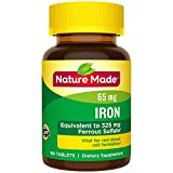 Nature Made 铁 65 mg. (来自硫酸亚铁) 粒 180 Ct