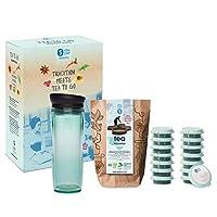 Shuyao Starterbox Tea to Go 保温杯 带集成茶筛 + 5x3 Loser 茶 带咖啡因 玉石绿色 32 4260568754586