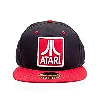 Difuzed 中性款 Atari 刺绣标志徽章棒球帽,黑色(黑色),均码