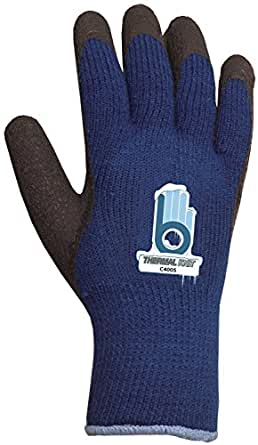 Bellingham C4005XL Extra Heavy-Duty Insulated Thermal Knit Work Glove, Heavy-Duty Acrylic Liner and Black Rubber Palm, X-Large, Blue