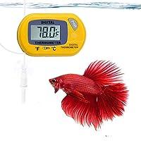 SunGrow LCD 数字温度计,准确读取水温,易于安装 - 随附 2 个吸盘和电池