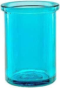 Bluecorn Beeswax 50% 可回收玻璃蜡烛夹(53.3 厘米内径x 83.8 厘米高) 水绿色 1