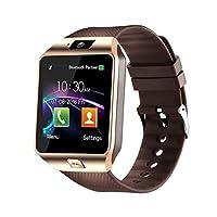 Padgene DZ09 藍牙智能手表,帶攝像頭,適用于三星、Nexus、HTC、索尼、LG 和其他 Android 智能手機n/a 均碼 金色