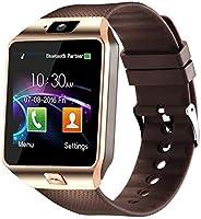 Padgene DZ09 蓝牙智能手表,带摄像头,适用于三星、Nexus、HTC、索尼、LG 和其他 Android 智能手机n/a 均码 金色