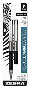 Zebra F-301 Compact Ballpoint Pen, 0.7mm, Black