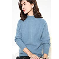 夷榀 秋冬新款女高领宽松加厚短款毛衣花袖韩版羊毛衫针织打底衫