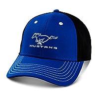Gregs Automotive Mustang 蓝色和黑色帽子与福特兼容 - 带驾驶风格贴花