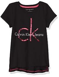 Calvin Klein 女孩平角徽标 T 恤