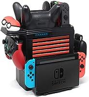 Nintendo Switch Pro 控制器充电支架,Joy-Con,精灵宝可梦球,游戏卡,多功能可拆卸底座充电器,任天堂交换机,配有 1 根 USB Type-C 数据线