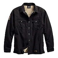 HARLEY-DAVIDSON 官方男式 #1 正品经典衬衫夹克,黑色