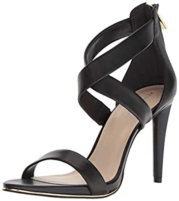Kenneth Cole New York Brooke 女士交叉带礼服凉鞋 黑色 6 M US