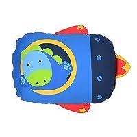 Milo & Gabby 原版儿童动物枕套,Dylan 恐龙火箭