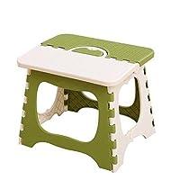 DH乐易行 塑料折叠凳加厚便携式凳子儿童宜家小椅子扎成人矮凳火车户外钓鱼马扎 (白绿色)