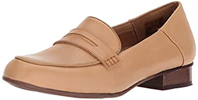 Clarks其乐 Keesha Cora Penny 系列女士乐福鞋 Light Tan Leather 7.5 Wide