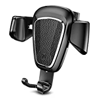 Baseus(Baseus) 车载支架 空调出风口 安装简单 智能手机支架 智能手机支架 车载 安装方便 使用方便 皮革制 皮革 iPhone Android 对应多机型B-64458 黑色