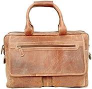 40.64cm Sperry 皮革复古风格邮差包包公文包笔记本电脑包 适用于男士枕套