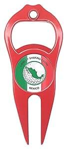 Hat Trick Openers 帽子 Trick 6 合 1 高尔夫草皮工具墨西哥标志 红色 HTDT9013MEX